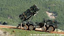 A photo taken on January 31, 2013 shows a Patriot missile system at a Turkish military base in Kahramanmaras, in southeastern Turkey, some 100 kms (60 miles) from the Syrian border. A second pair of Patriot missile batteries, sent by NATO countries to defend Turkey against possible attack from Syria are now operational, a German security official said on January 29. The United States, Germany and the Netherlands each committed to sending two batteries and up to 400 soldiers to operate them after Ankara asked for help to bolster its air defenses against possible missile attack from Syria. The two German batteries, which have been deployed around Kahramanmaras, were in position and ready to use, the German security official said. AFP PHOTO / ANATOLIAN NEWS AGENCY / ISMAIL HAKKI DEMIR - TURKEY OUT - (Photo credit should read ISMAIL HAKKI DEMIR/AFP/Getty Images)