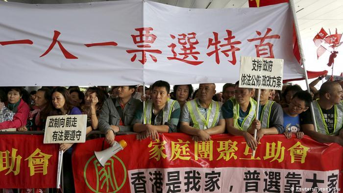 Hong Kong Boykott Wahlreform Gesetzentwurf Protest