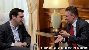 Griechenland Russland Miller bei Tsipras