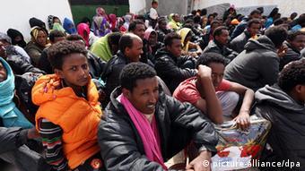 Libyen Migranten im Abu Salim Zentrum
