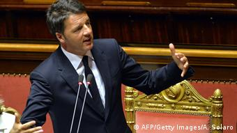 Matteo Renzi in the Italian parliament