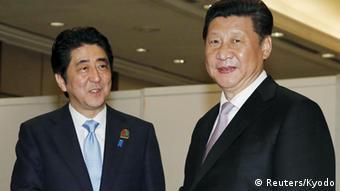 Shinzo Abe und Xi Jinping (Foto:Reuters)