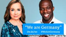 Photo for Teaser: DW campaign We are Germany ChrisTine Urspruch, Hans Sarpei