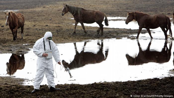 Belarus - Tschernobyl Messung der Radioaktivität