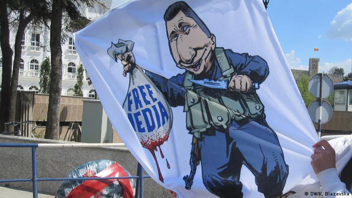 Mazedonien Journalisten Proteste in Skopje