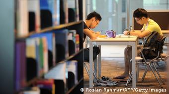 Studenten in der Malaysia Newcastle University's Foto: ROSLAN RAHMAN/AFP/Getty Images