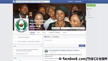 Screenshot Facebook Confederation Of Nigerian Students In Malaysia