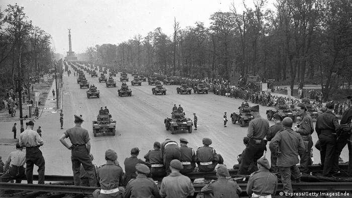 Deutschland Ende des Zweiten Weltkrieges US-Truppen in Berlin