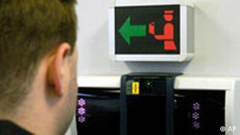 Biometrie Grenzkontrolle in Frankfurt