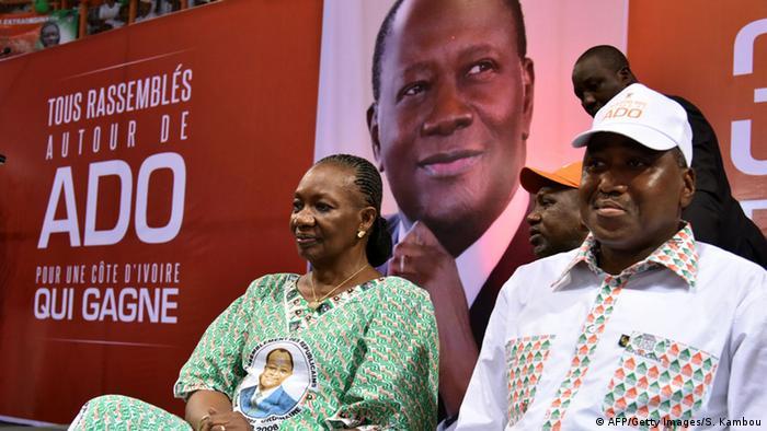 Mitglieder der Regierungspartei RDR in der Elfenbeinküste