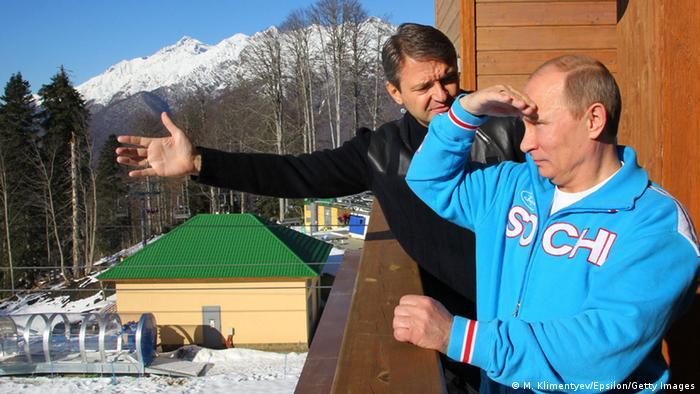 министр сельского хозяйства РФ Александр Ткачев и Владимир Путин