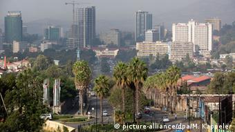 Stadtansicht von Addis Abeba, Äthiopien