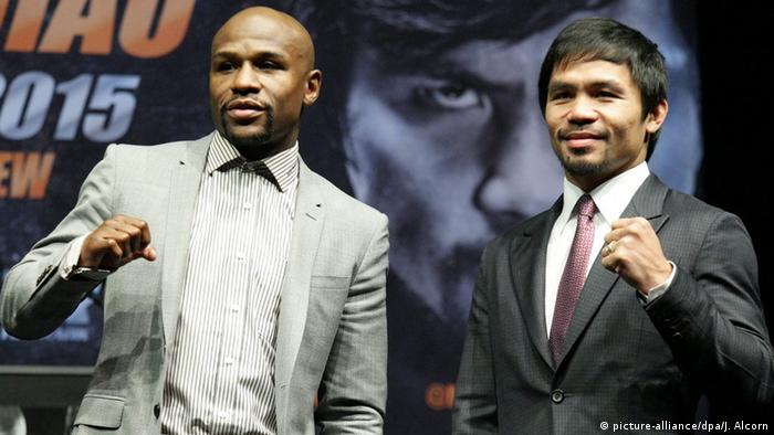 Boxer Floyd Mayweather und Manny Pacquiao