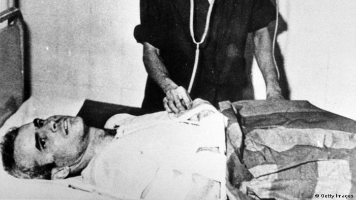 John McCain in a hospital in Hanoi in 1967