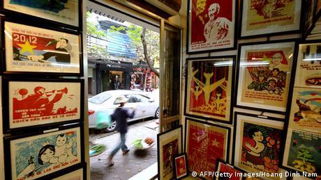 Bildergalerie Vietnam Poster-Shop in Hanoi