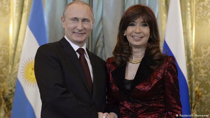 Russland Argentinien Fernandez bei Putin