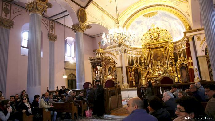 Armenien Völkermord Messe in einer Kirche in Istanbul