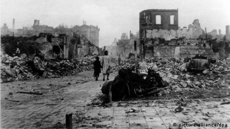 Zweiter Weltkrieg, Emden 1945 Zerstörung