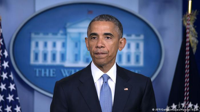 US-Präsident Obama spricht bei einer Pressekonferenz in Washington über Tod von Geiseln bei einer Anti-Terror-Aktion (Foto: MANDEL NGAN/AFP/Getty Images)