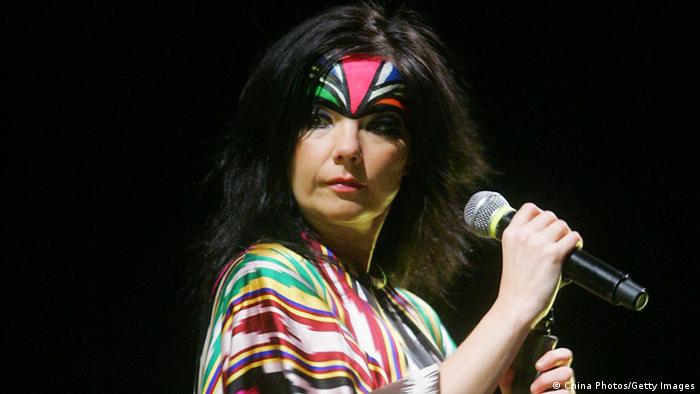 Björk on stage in China (China Photos/Getty Images)