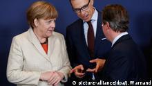 EU Sondergipfel Merkel & Stubb & Cameron