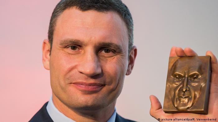 Віталій Кличко із премією Конрада Аденауера