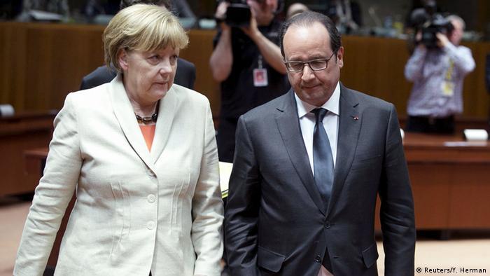 Анґела Меркель і Франсуа Олланд