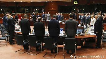 Schweigeminute beim EU-Sondergipfel zur Flüchtlingspolitik