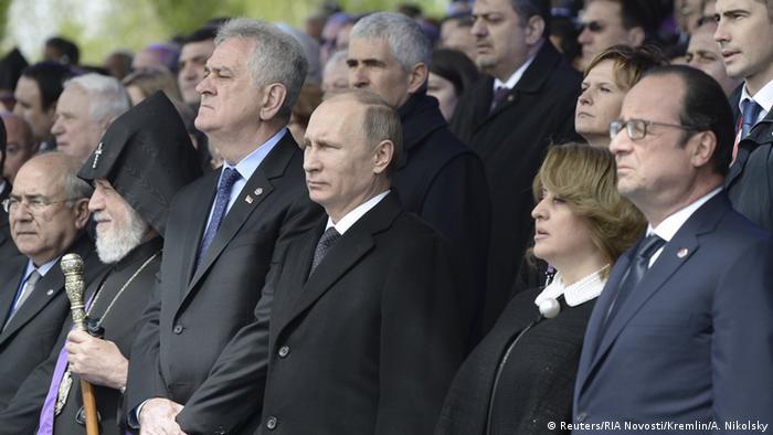 Armenien Völkermord Gedenkfeier Putin Hollande Nikolic