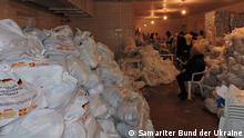 Ukraine Lager für humanitäre Hilfe