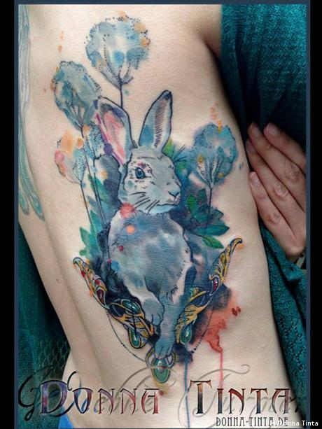 Tattoo by artist Donna Tinta. Copyright: Donna Tinta.