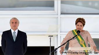 Michel Temer e Dilma Rousseff, em 2015