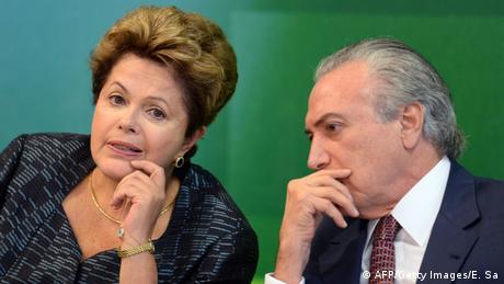 Brasilianische Präsidentin Rousseff mit Vizepräsident Temer