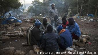 Flüchtlinge im Camp Gourougou Foto: AP Photo / Santi Palacios