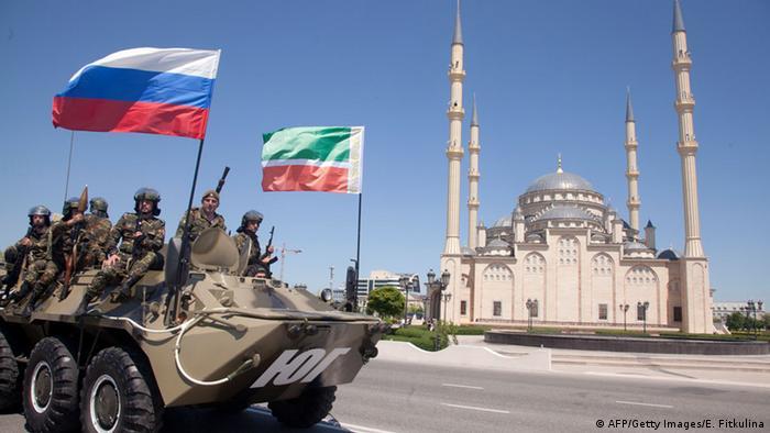 Российские военные в Чечне