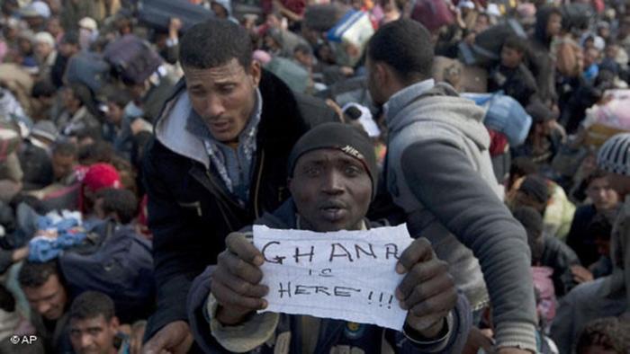 Libyen Tunesien Grenze Flüchtlinge Migranten