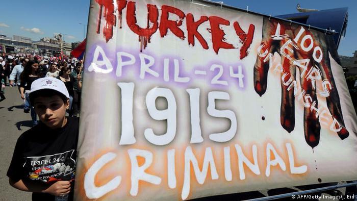 Beirut Demonstration von Armeniern 100. Jahrestag Völkermord