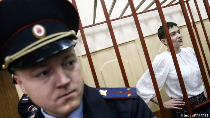 Надежда Савченко в зале суда