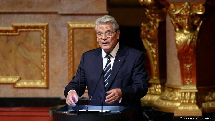 Bundespräsident Gauck hält Rede im Berliner Dom