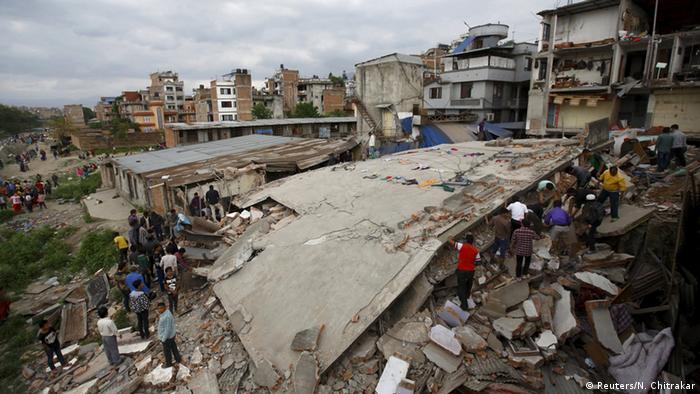 Collapsed buildings in Kathmandu REUTERS/Navesh Chitrakar