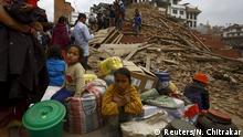 Nepal Kathmandu Starkes Erdbeben Durbar Square
