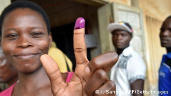 Une électrice