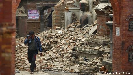 Nepal Schweres Nachbeben nach Erdbeben in Bhaktapur