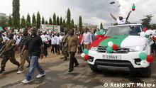 Burundi Präsident Pierre Nkurunziza bewirbt sich um eine dritte Amtszeit