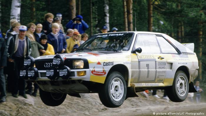 An Audi Sport quattro at the 1984 World Rally Championship