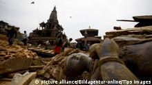 Nepal Erdbeben Bildergalerie zerstörte Weltkulturerbe Durbar Square Patan