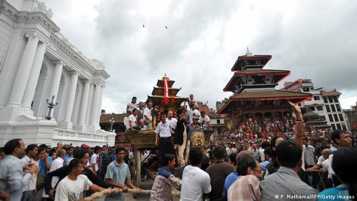 Площа Дурбар у Катманду до землетрусу