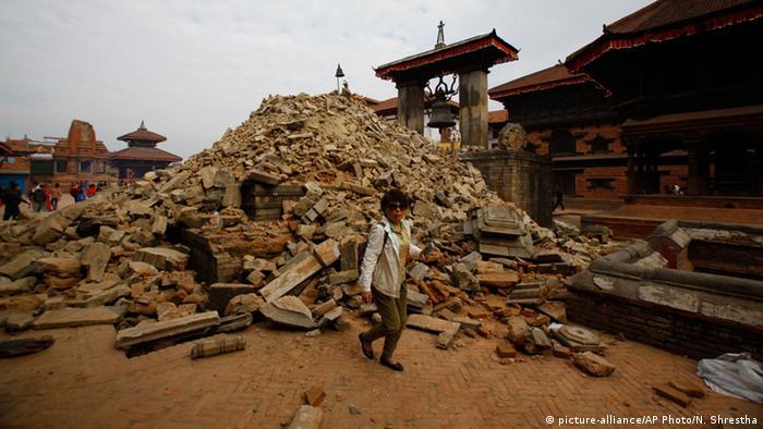 Площа Дурбар у Бхактапурі після землетрусу