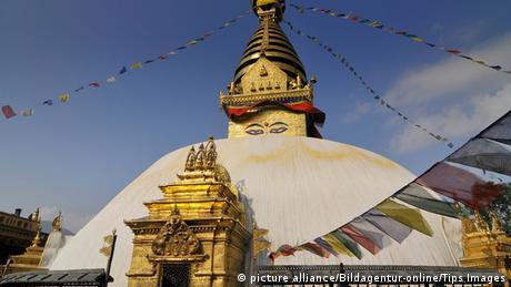 Nepal Erdbeben Bildergalerie zerstörte Weltkulturerbe Swayambunath Stupa