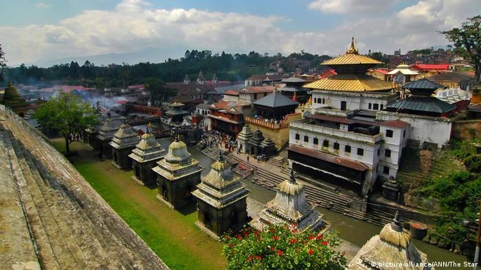 Nepal Erdbeben Bildergalerie zerstörte Weltkulturerbe Tempel Pashupatinath